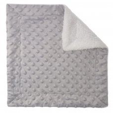 BC50-G: Grey Bubble Sherpa Comforter
