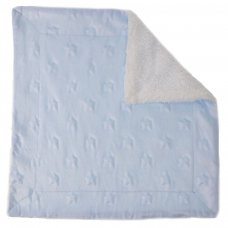 BC52-B: Blue Star Sherpa Comforter