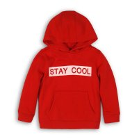 BW HOODY 4: Boys Red Stay Cool Hooded Top (9 Months-3 Years)