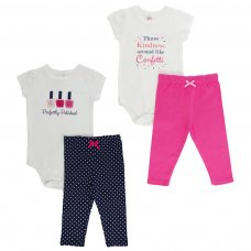 BG106: Girls Bodysuit & Pants Set (NB-9 Months)