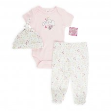 BG108: Bodysuit & Pants & Hat Set (NB-9 Months)