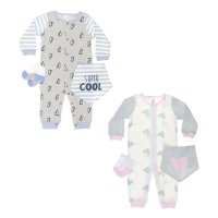 BG110: Sleepsuit, Bandana Bib & Socks Set (NB-9 Months)
