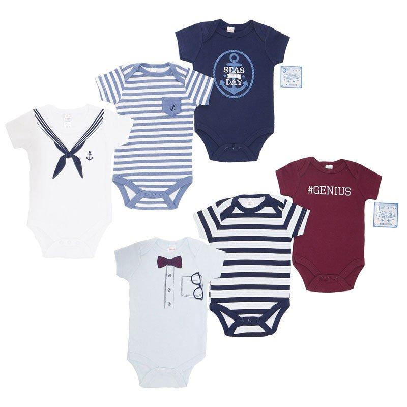 BG116: Boys 3 Pack Bodysuits (NB-9 Months)