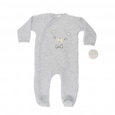 BG120-G: Little Bear Quilted Sleepsuit (0-9 Months)
