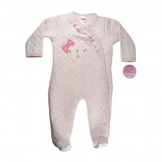 BG120-P: Little Bear Quilted Sleepsuit (0-9 Months)
