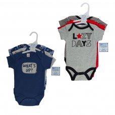 BG124: Boys 3 Pack Bodysuits (NB-9 Months)