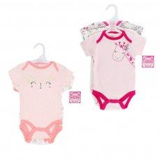 BG44: Girls 3 Pack Bodysuits (NB-9 Months)