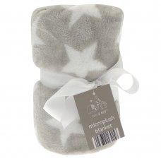 BIT164163: Elli & Raff Star Design Microplush Blanket