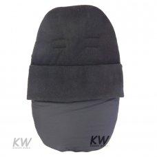 Black Fleece Car Seat Footmuff