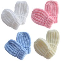 BM02: Small Plain Ribbed Mittens