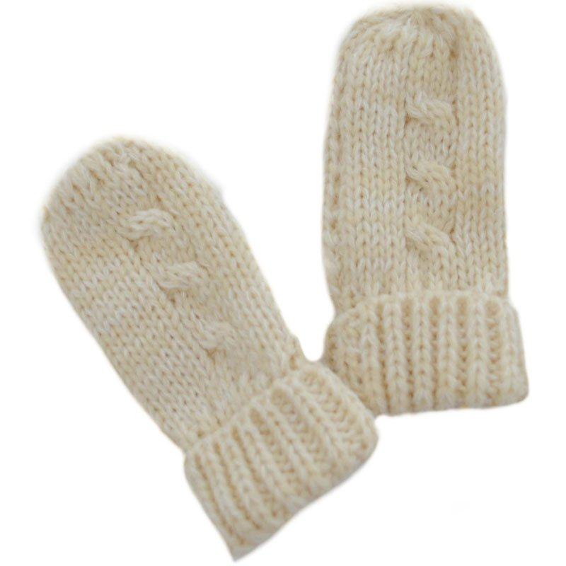 BM04-BE: Small Beige Mittens