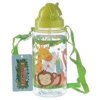 BOT10: 450ml Childrens Water Bottle with Straw & String