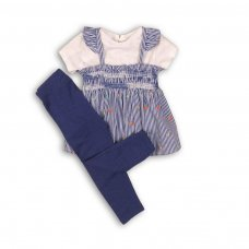 Botanical 4: 3 Piece T-Shirt, Suntop & Legging Set (0-12 Months)
