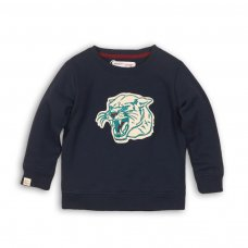 Bro 7P: Fleece Crew Top With Chest Embroidery (3-8 Years)
