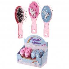 BRU02: Fun Girls Unicorn Hair Brush