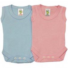 BS1CC: Coloured Cotton Sleeveless Bodysuits (0-24 Months)