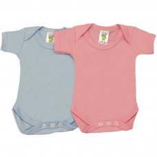 BS2CC: Coloured Cotton Short Sleeve Bodysuits (NB-24 Months)