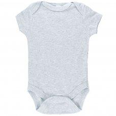 BS4654-G: Plain Grey Bodysuit (0-6 Months)