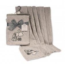 BW-112-1010: Baby Wrap With Embroidery- Grey