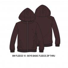 BW FLEECE 10P: Boys Berry Fleece Zip Thru (8-13 Years)