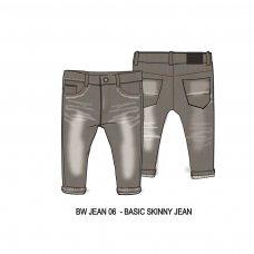 BW JEAN 6: Boys Grey Skinny Jean (9 Months-3 Years)