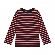 BW JERSEY 17P: Boys Navy/White Stripe Jersey Slub Top (8-13 Years)