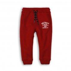 BW JOG 3: Boys Red Motor City Fleece Jogger (9 Months-3 Years)