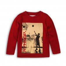 BW LTEE 14P: Boys Small Print Long Sleeve Top (8-13 Years)