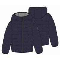 BW PAD 37P: Boys Navy Puffa Jacket (8-13 Years)