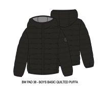 BW PAD 38P: Boys Black Puffa Jacket (8-13 Years)