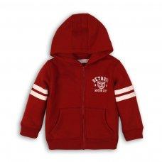 BW ZIP THRU 3: Boys Red Motor City Fleece Zip Thru (9 Months-3 Years)