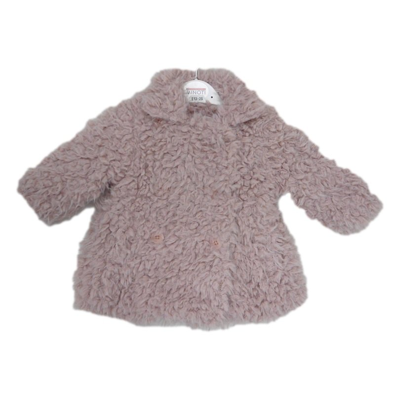 Berry 12: Boucle Effect Fur Coat (6 Months-3 Years)