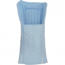 Standard Broderie Anglaise Baby Nest: Blue