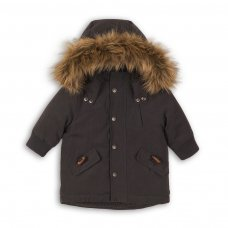 Bolt 3P: Padded Microfibre Fur Coat (12-24 Months)