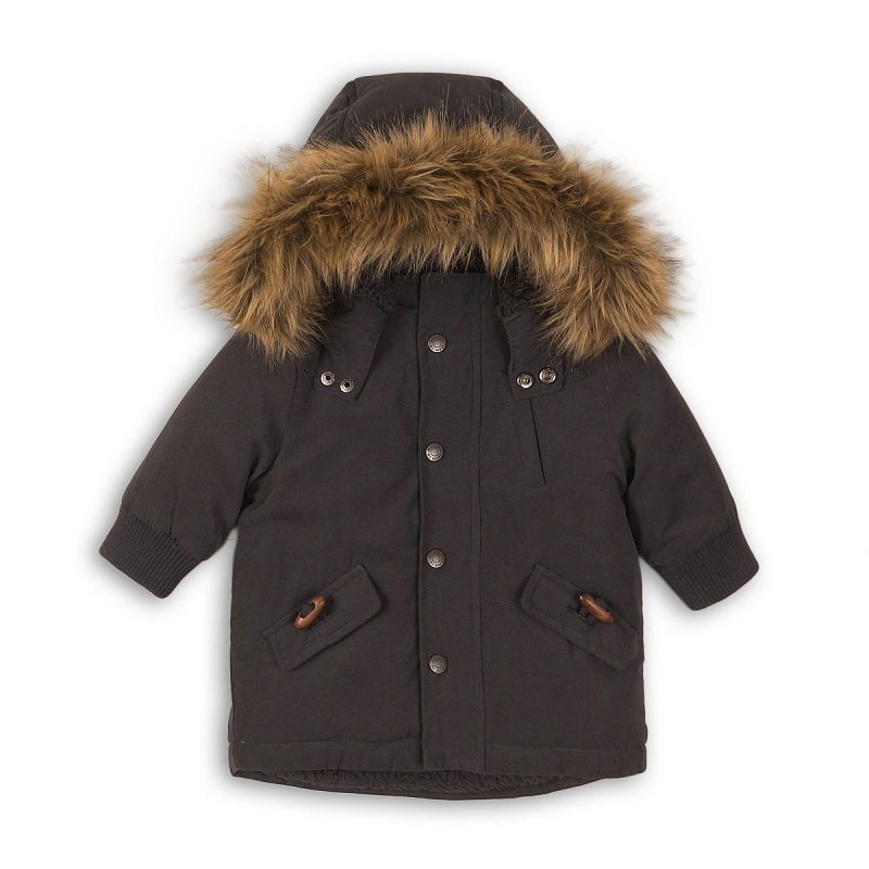 Bolt 3P: Padded Microfibre Fur Coat (12-24 Months)