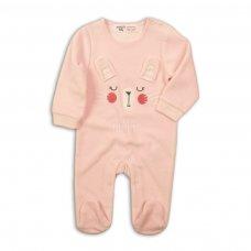 Bunny 4: Velour Sleepsuit (0-12 Months)