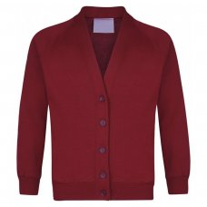School Cardigan - Burgundy