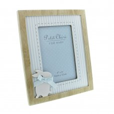 "CG1173B: Petit Cheri Blue Rabbit Photo Frame - 4"" x 6"""