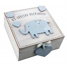 CG1307B: 'Petit Cheri' MDF My Special Keepsake Box 16cm x 16cm - Blue