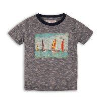 Club 3: Striped T-Shirt With Photographic Print (9 Months-3 Years)