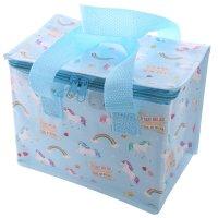 COOLB17: Woven Cool Bag Lunch Box - Unicorn