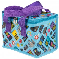 COOLB42: Woven Cool Bag Lunch Box - Girly Game Over