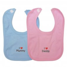 VBCCL: Velcro Bib Cotton Coloured (I Love Motif)