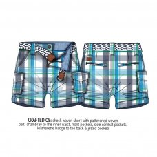 Crafted 8: Checked Short With Belt (1-3 Years)