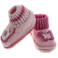 CRS07-G: Knitted Crochet Bootees (0-6 Months)