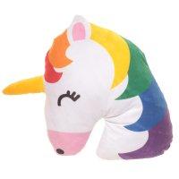 CUSH155: Emotive Plush Cushion - Rainbow Unicorn