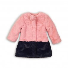 Circus 10: Fur Coat With Contrast Hem & Pom Pom (9 Months-3 Years)