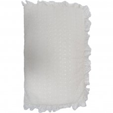 Standard Broderie Anglaise  Cot Quilt & Bumper Set: Cream