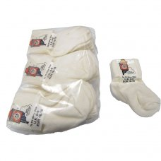 Clock Socks: Cream Pack of 12