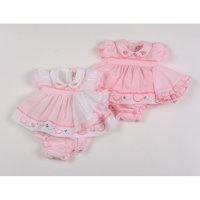 G0202: Premature Baby Girls Water Melons Dress, Pant & Hat Set